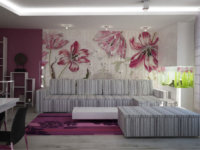 Фото небольшой квартирки с красивыми обоями