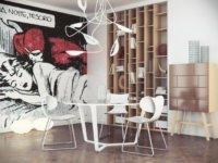 А зона отдыха оформляется в ярком, креативном стиле. Она может быть очень яркой и привлекать много внимания в отличие от других частей комнаты.