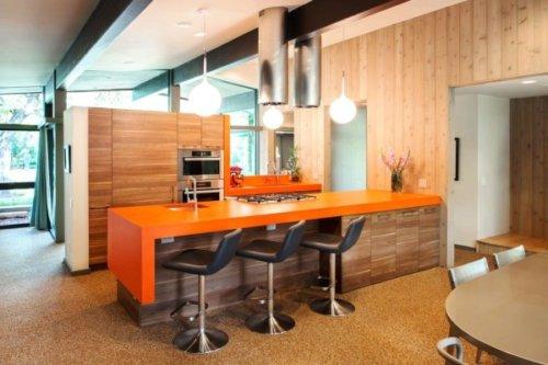 Эргономично устанавливать полностью встроенную кухню.