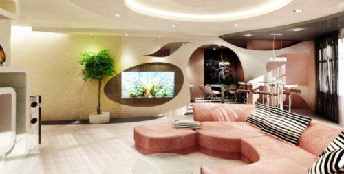 Основная особенность такой квартиры – отсутствие перегородок между комнатами