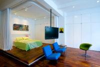 Использование потолка при разделении комнаты на зоны также очень важный момент.