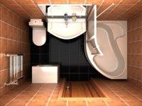 Объединение ванной и туалета позволяет прибавить 2-3кв.м.