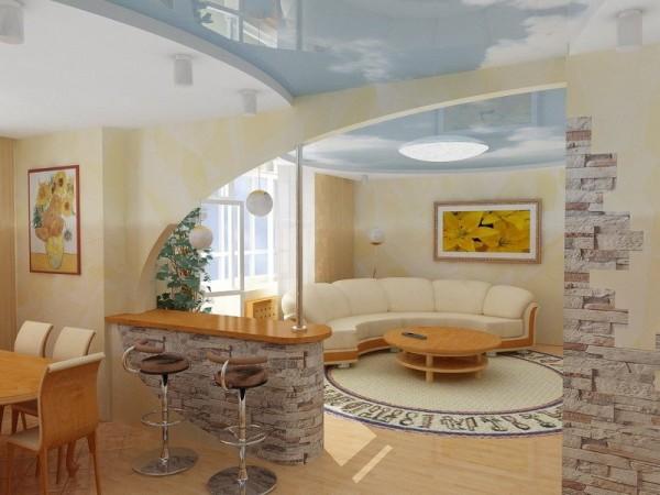 Самый большой участок в квартире обычно занят именно гостиной.