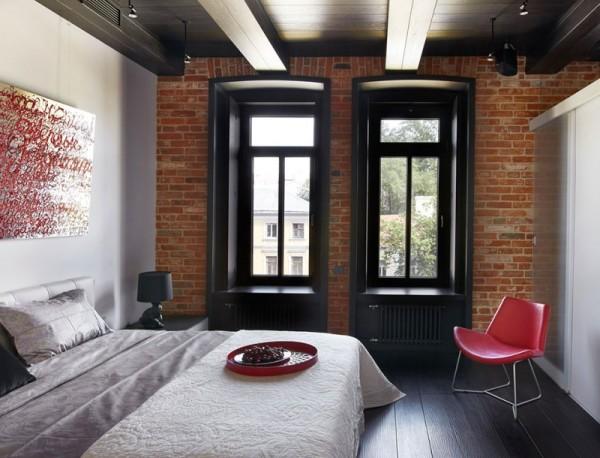 Фото оформленной квартиры в стиле лофт