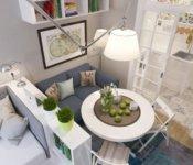 Варианты дизайна квартиры студии 25 кв. м (с точки зрения выбора основной цветовой гаммы) могут быть разными.