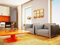 Небольшая жилая площадь диктует основное дизайнерское направление для обустройства – минимализм.
