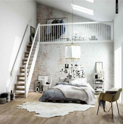 Квартира студия с 2-мя спальнями на 2-х ярусах