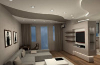 Интерьеры квартиры студии 50 кв. м, простое оформление