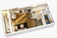 Продумывая план, как обустроить квартиру студию, важно правильно, придерживаясь единого стиля.