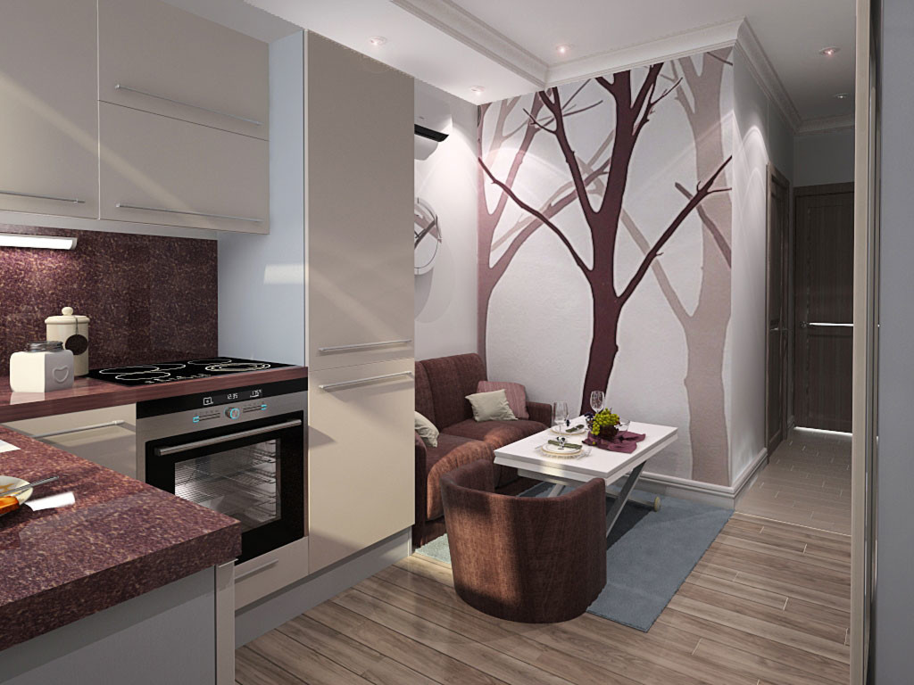 Варианты зонирования помещения - квартира студия - идеальное.