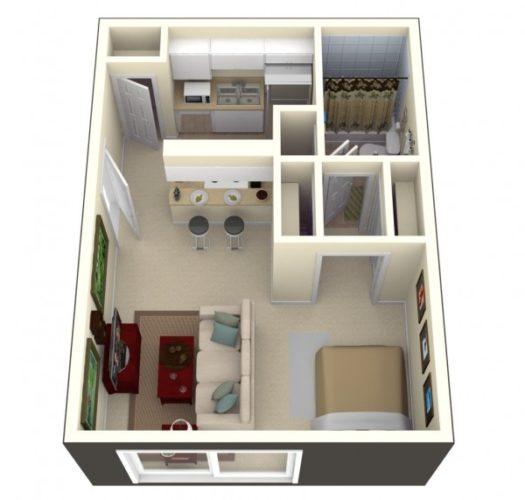 Прямоугольная форма помещения