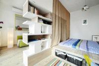 Как зонировать спальное место