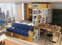 Малогабаритная квартира студия: простой дизайн