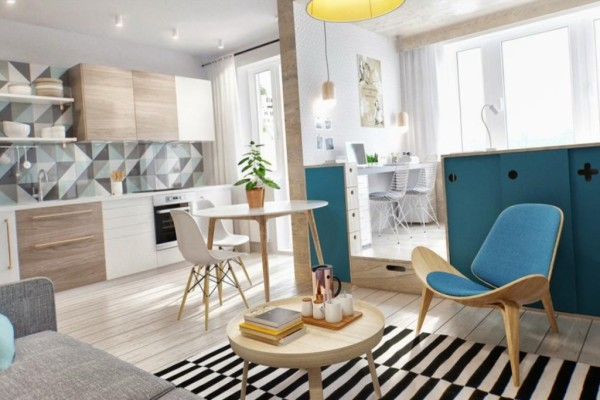Красивая малогабаритная квартирка-студия