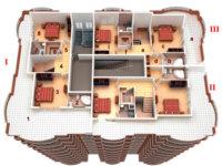 Детальный план квартиры свободной планировки
