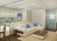 В освободившееся от спального места пространство можно поставить диван.