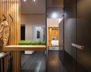 Оформление узкой квартиры в стиле лофт.