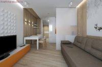 Приступать к такому непростому процессу, как дизайн квартиры студии прямоугольной необходимо начинать именно с этой зоны.
