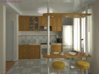 Как оформить кухню в квартире студии