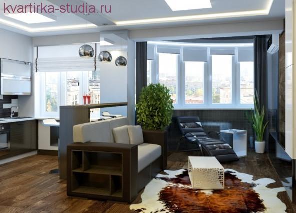 Фото квартиры студии прямоугольной планировки