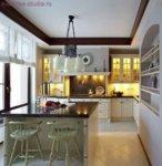 Варианты оформления кухонной зоны в квартире студии