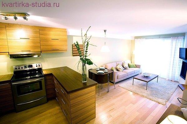 Кухня гостиная 20 квм прямоугольная дизайн