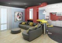 Важно грамотно зонировать имеющееся пространство, тогда интерьер получится «воздушным», а в квартире будет уютно.