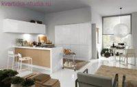 Кухню можно перенести в любую часть квартиры.