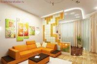 Кроме правильного распределения зон, нужно подобрать мебель и цветовую палитру.
