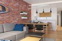 Зона отдыха или гостевая зона, располагается в центре квартиры.