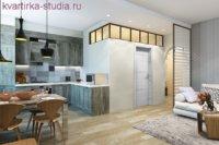 Перевоплощение с 2-х комнат в однокомнатную квартиру студию.