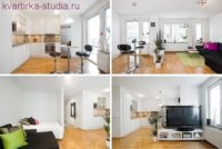 Простой проект: из 2-х комнатной получилась квартира студия 67 квадратов.