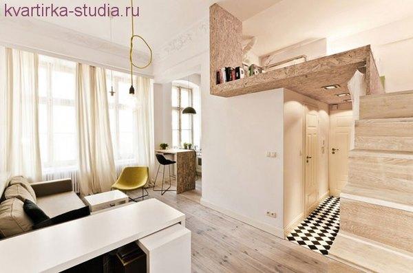 Квартира студия, дизайн. Однокомнатная и ее планировка