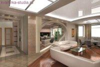 Огромная просторная перепланированная квартира.