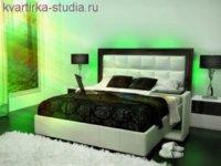 Мягкий свет из-под кровати или с высоты светильника создаст романтическую атмосферу и поможет быстро уснуть.