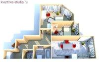 2 спальни, столовая и кухня.
