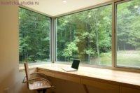 Приятный вид с окна является дополнительным источником положительной энергетики.