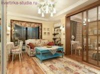 2-комнатная квартира студия для семьи.