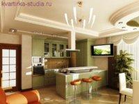 Перепланировка небольшой квартиры студии согласно учению фен-шуй.