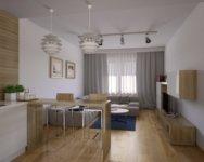 Двухкомнатная квартира студия: отличительные черты геометрической планировки.
