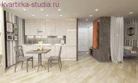 Светлый и мягкий интерьер в духе минимализма с применением природных натуральных материалов.