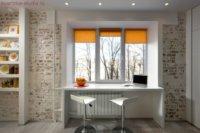 Как выглядит в студии квартире кухня на лоджии.