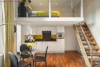 Функциональное решение для квартиры студии, при помощи мебели.