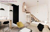 Фото современной двухуровневой квартиры.