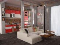 Квартира студия двухуровневая современные направления дизайна