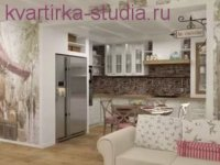 Интерьеры квартир студий в стиле прованс смотрится уютно и комфортно.