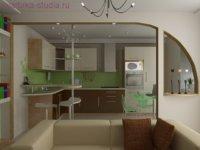 Оформление кухонной зоны.