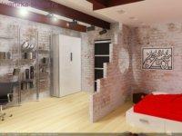 Кабинет и спальная комната