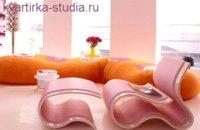 Нежный розовый интерьер