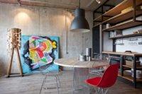 Интерьер однокомнатной квартиры студии, проект Сергея Бахарева
